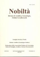 Copertina del bimestrale Nobiltà