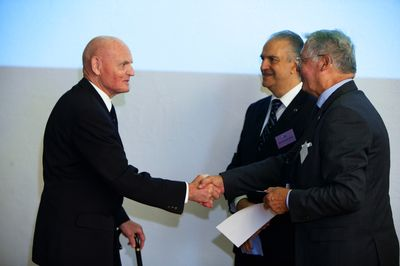 Da sinistra Thorbjørn Bergersen, Pier Felice degli Uberti e Michel Teillard d'Eyry al XXXI Congresso di Oslo