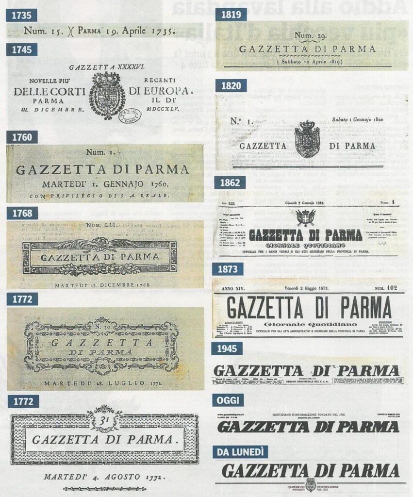 Testate della Gazzetta di Parma